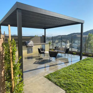 4K Pergola System for Outdoor Kitchen