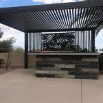 Palm-design-pergola-with-lattice-4K Aluminum Inc